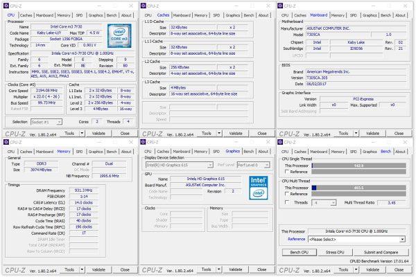 ASUS TransBook 3 T305CA-7Y30 CPU-Z