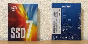 インテル SSD 760p 256GB SSDPEKKW256G8XT パッケージ