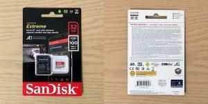 サンディスク Extreme マイクロSDHC 32GB SDSQXAF-032G-GN6MA パッケージ