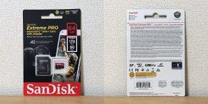 サンディスク Extreme PRO マイクロSDXC 64GB SDSQXCY-064G-GN6MA パッケージ