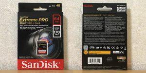 サンディスク Extreme PRO SDXCカード 64GB SDSDXXY-064G-GN4IN パッケージ