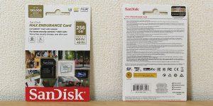 サンディスク Max Endurance マイクロSDXC 256GB SDSQQVR-256G-GN6IA パッケージ