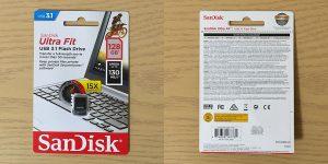 サンディスク Ultra Fit USB 3.1 128GB SDCZ430-128G-G46 パッケージ