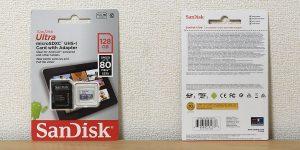 サンディスク Ultra マイクロSDXC 128GB SDSQUNS-128G-GN6TA パッケージ