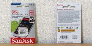 サンディスク Ultra マイクロSDXC 64GB SDSQUNS-064G-GN3MN パッケージ