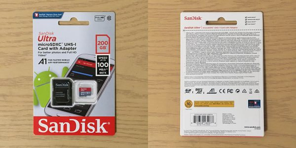 SDSQUAR-200G-GN6MA パッケージ