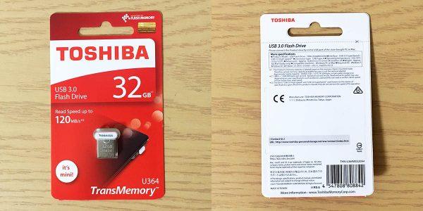 東芝 USBメモリー U364 32GB THN-U364W0320A4 パッケージ